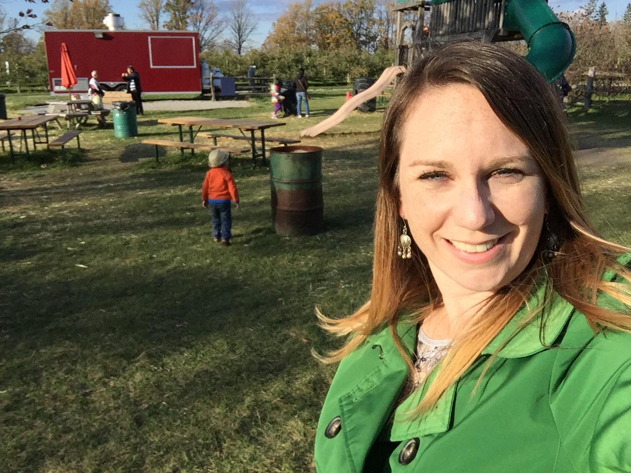 Kathryn Dickson in fall.