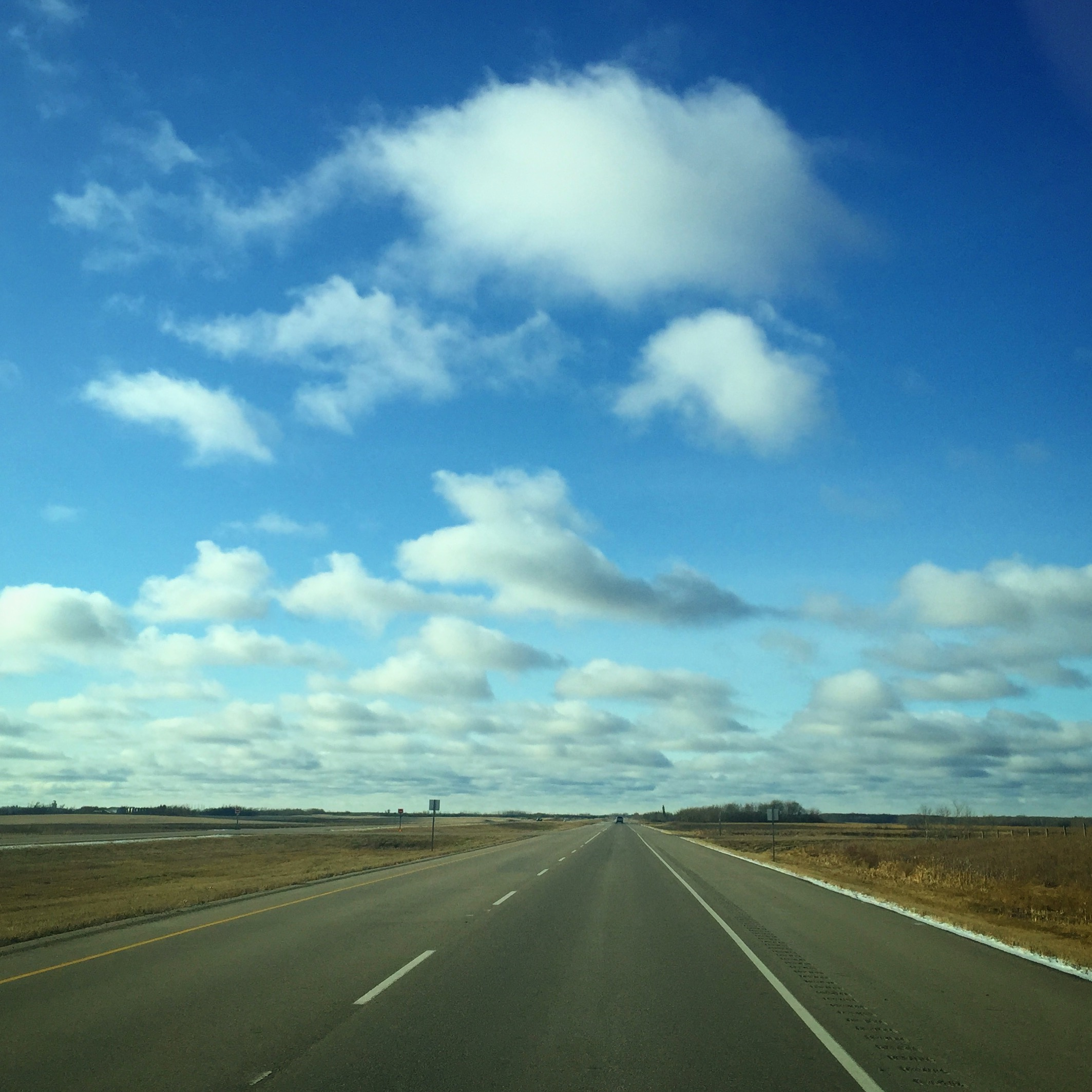 driving on highway in saskatchewan