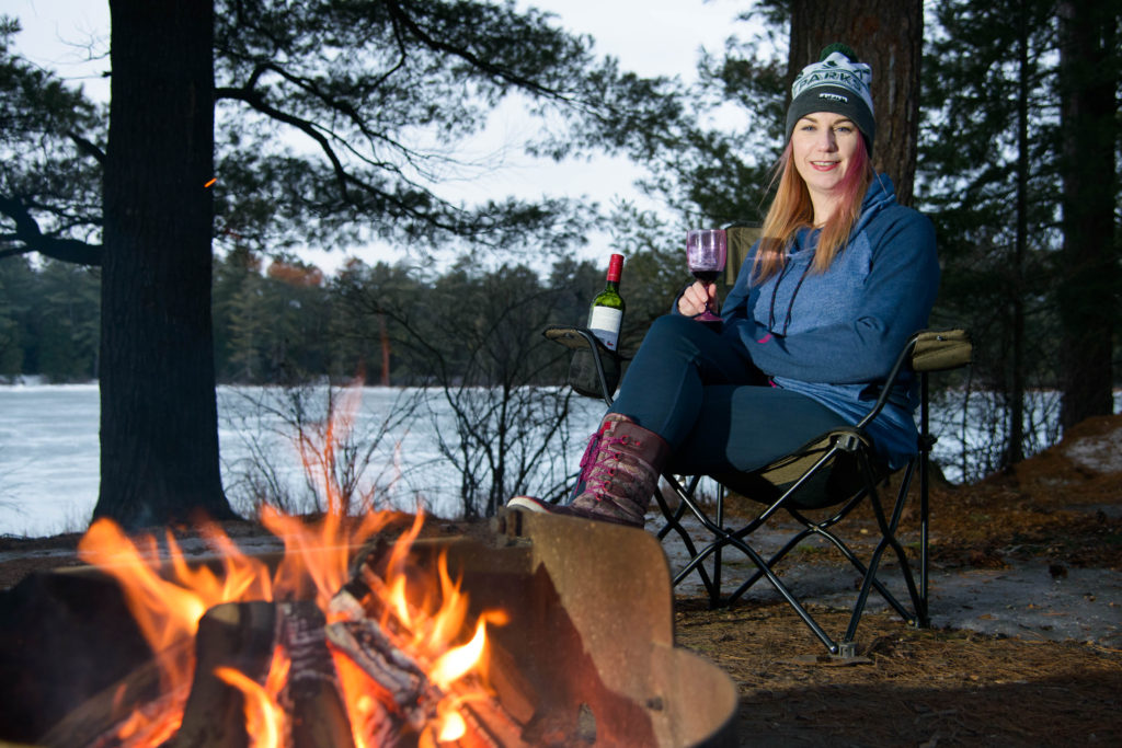 Drinking wine and camping in the winter #merlot #pinot #wintercamping #yurtlife #camping #glamping #yurtcamping