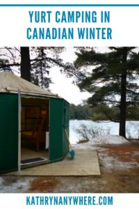 Winter Camping in a yurt at Algonquin Park #mewlake #algonquinpark #yurtlife #glamping #wintercamping #travelblogger #femaletravelblogger #ontarioroadtrips #yurtcamping