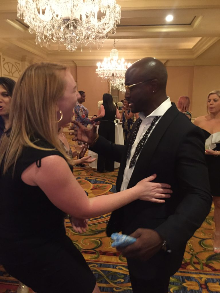 Meeting Taye Diggs in the lobby at Mom 2.0 of the Langham Huntington Hotel #mom2summit #tayediggs #hotdad #pasadena #california #kathrynanywhere @KathrynAnywhere