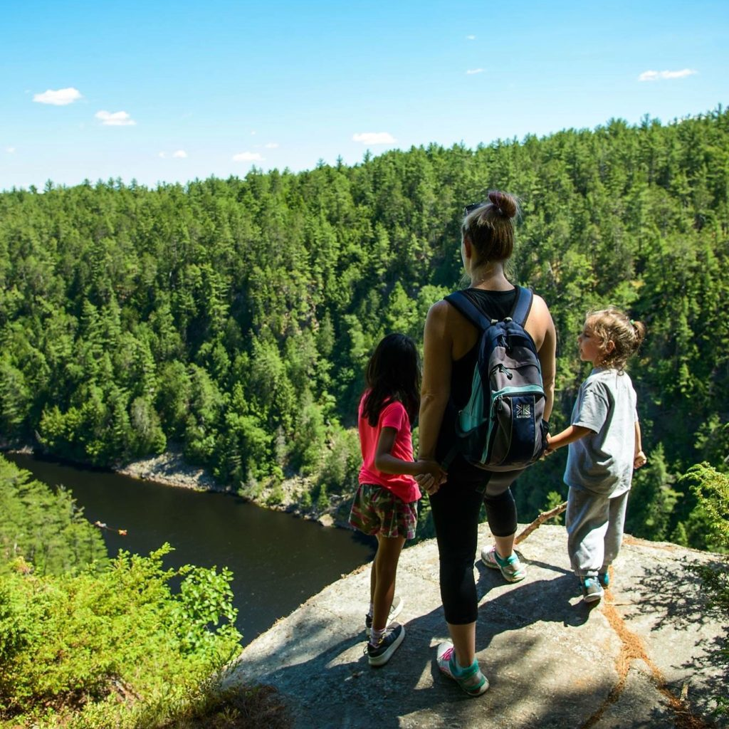 Hiking in Algonquin Provincial Park, one of the best trails for families in Ontario