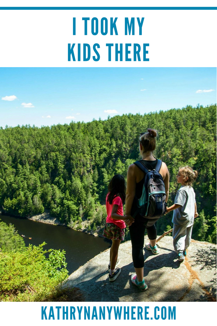 Adventure Parenting in Canada #getoutside #showyourkidstheworld #canadianfamily #outdoorsfamily #hikingkids #ontarioisbeautiful #takeahike #hikelife #keepthemwild