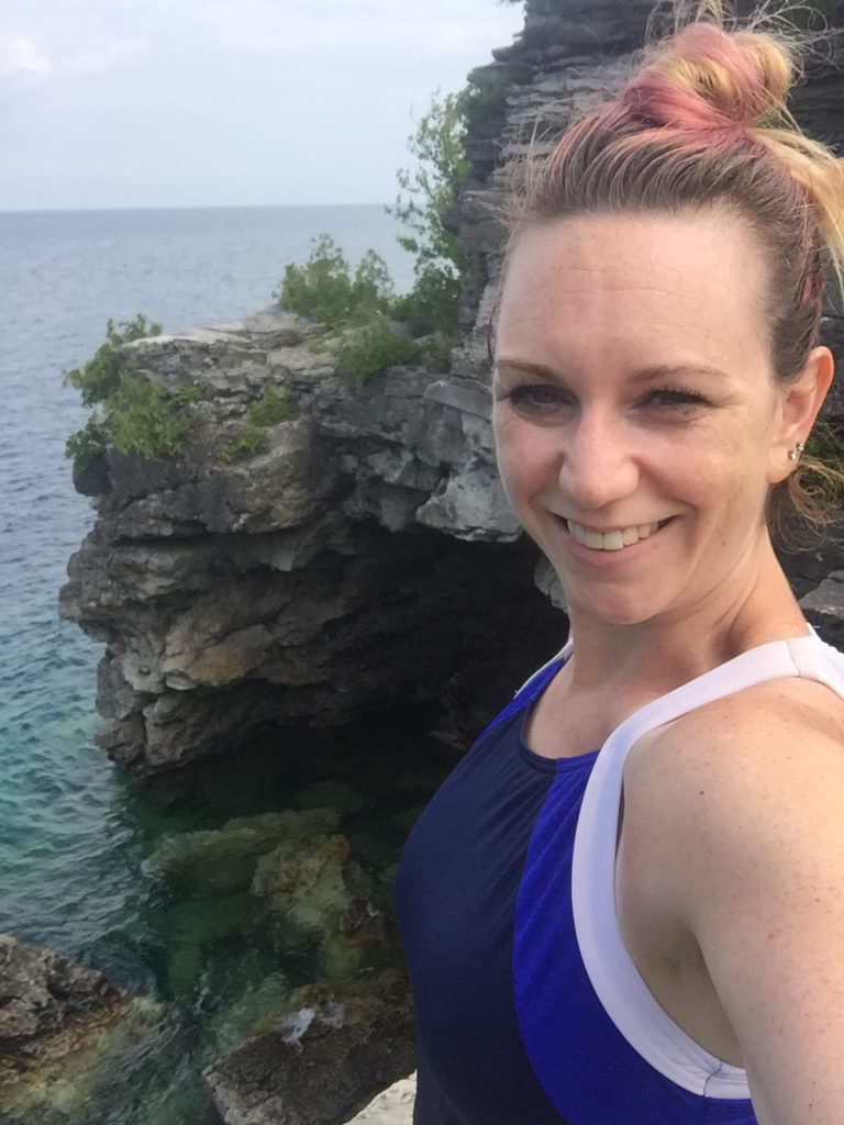 What You Need To Know About Going to The Grotto at Tobermory - my selfie in the grotto