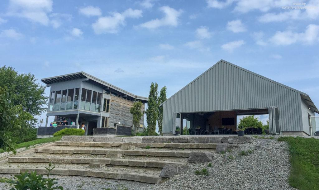 Luxury Family Glamping Ontario, food building and zipline platform