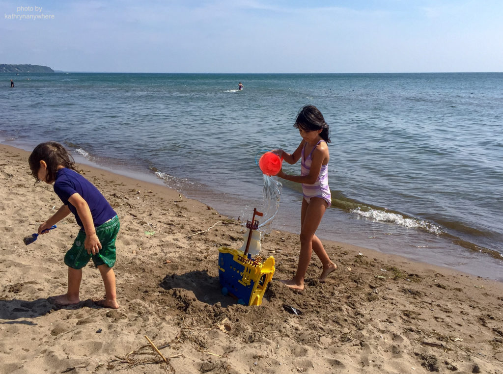 toronto kids at turkey point beach