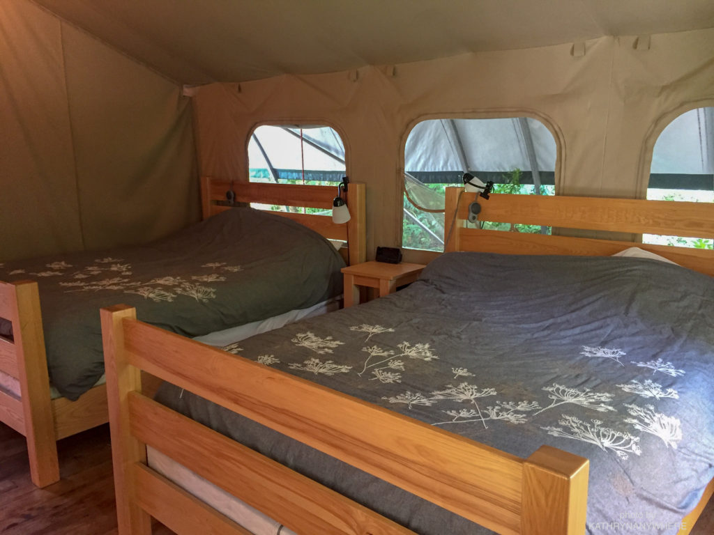 Luxury Family Glamping Ontario, queen size beds