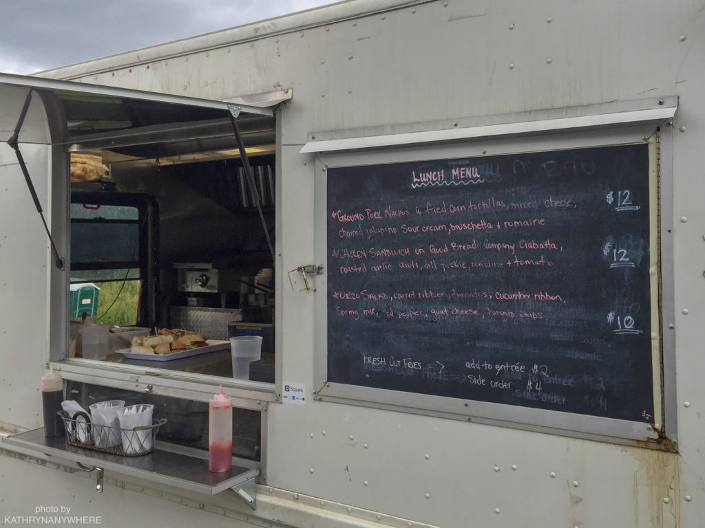 Luxury Family Glamping Ontario, food truck lunch menu