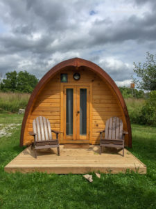 Luxury Family Glamping Ontario, camping pod