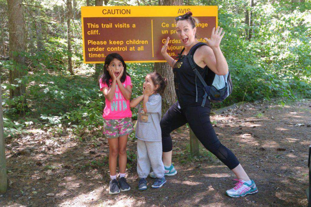 Epic Hikes With Kids - BARRON CANYON TRAIL, this trail visits a cliff #discoverON #exploremore #barroncanyontrail #algonquinpark #getoutside #liveoutdoors #ontarioparks #welivetoexplore #familytravelblogger #hikingwithkids #kidswhohike #hikingmom