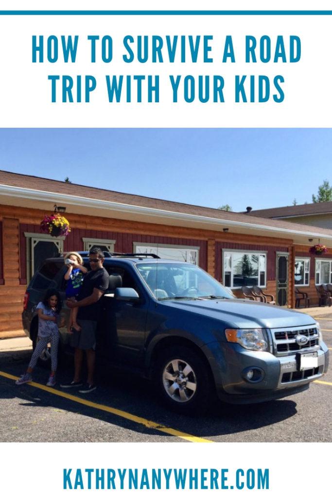 Surviving a road trip with your kids. Ready to leave Batchawana Bay in Ontario #roadtrips #roadtripswithkids #roadtrippin #lpkids #wearetravelmums #familyadventures #holidayswithkids #travelwithkids #mytinyatlas #northernontario #batchawanabay