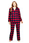 Lands' End Monogramed pyjamas #landsend xa#flannelpyjamas #monogram #RadiantNavyCheck #richred #longsleevepyjamas #warmandcozy