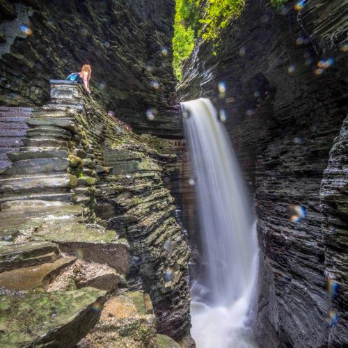 KathrynAnywhere hiking Watkins Glen Gorge Trail