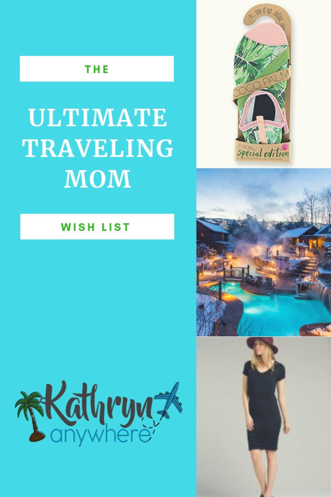 The Ultimate Holiday Wish List For The Traveling Mom #travelingmom #holidaywishlist #mompresents #fitkickslife #landsend #prana #coveredgoods #scandinaviespa #nordicspa #planeticket #collingwood #stockingstuffers