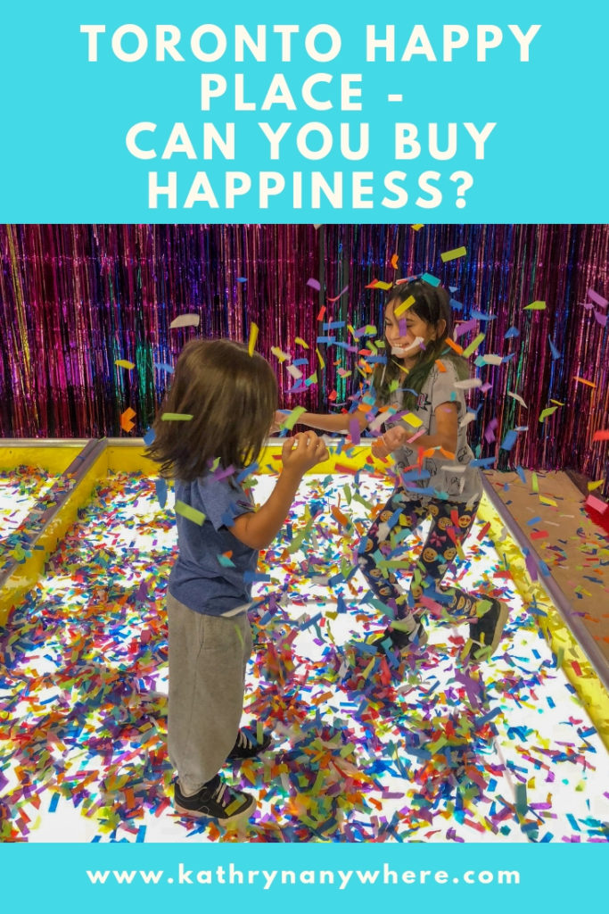 This way to Happy? Can you buy happiness?#happyplaceTORONTO #happyplace #wearehappyplace #captureyiourhappy #harbourfrontcentre #champagnepapi #confetti #confettionthefloor #thingstodointoronto #sadtruth #ballpit #saveyourmoney #torontofamily