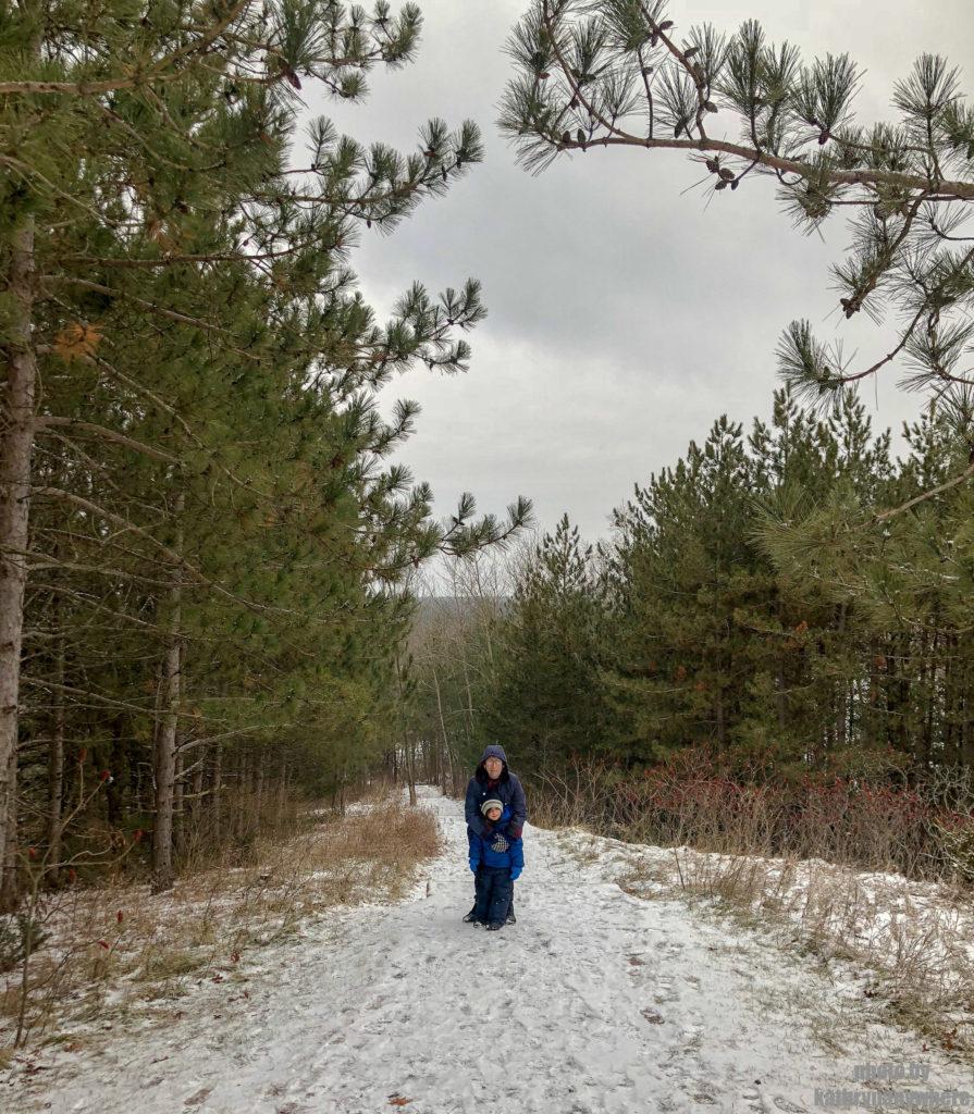 My Mom and son at Sagar Conservation Area Trail hike #sagerconservationarea #womenwhohike #wanderlust #getoutstayout #letsgosomewhere #exploretocreate #kidswhohike #theoutbound #thosewhostray #traveldeeper #observationtower #neverstopexploring #exploreclub #conservationarea #sagerconservation #yourstodiscover #discoverON #kidswhoexplore #seniorswhohike