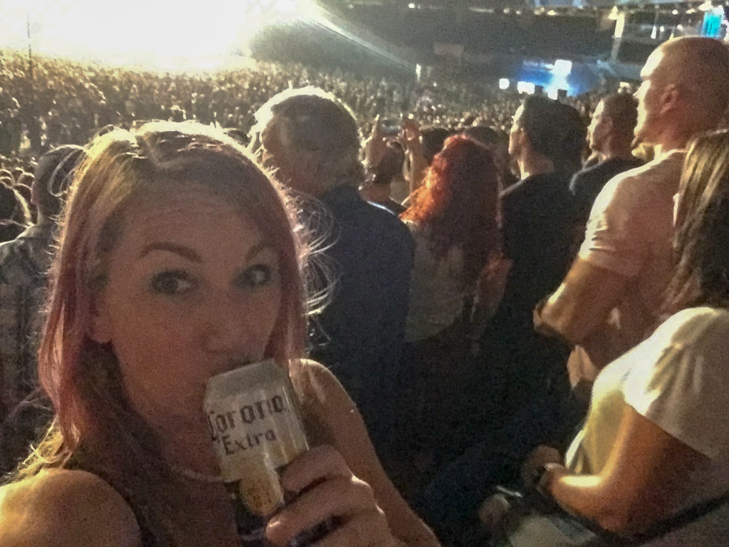 Seeing the Foo Fighters in Toronto #selfie #happygirl #livingmybestlife