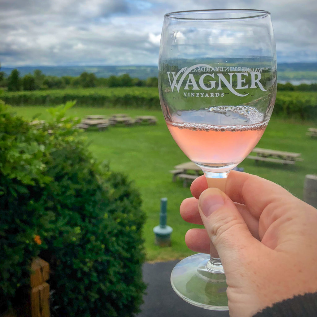 Rose wine at Wagner Vineyards #myFLXtbex #roseallday #cabfranc #wagnerwineyards