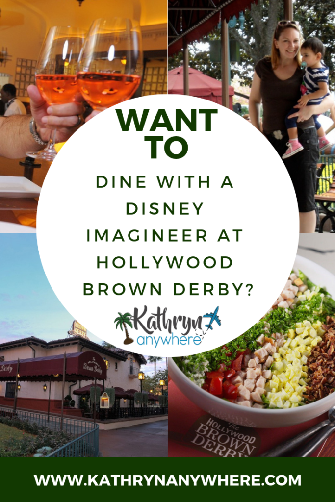 Want To Dine With An Imagineer at Hollywood Brown Derby in Disney's Hollywood Studios in the Walt Disney World Resort? Check out our experience! #dinewithanimagineers #disneyshollywoodstudios #disneyphiles #disneyobsessed #wyattwinter #fantasylandexpansion #holllywoodbrownderby #cobbsalad