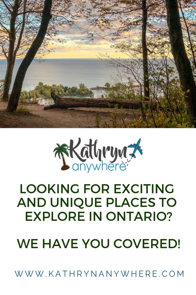 Looking for exciting and unique places to explore in Ontario? I asked a bunch of local travel bloggers and here is where they recommend #greycounty #salmonrun #porthope #portdover #devilspunchbowl #exploreontario #discoverontario #bathtubisland #niagarafalls #jetboat #helicopter #onoir #Kathrynanywhere #torontobloggersco #Torontotravelbloggers