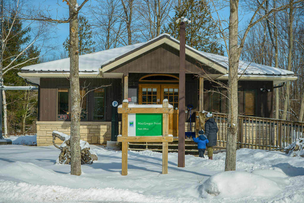 Little Man and I walking up to the camp office in the snow at MacGregor Point Provincial Park to get checked in #findyourselfhere #macgregorpointprovincialpark #macgregorpoint #macgregorpp #ontarioparks #yurtcamping #wintercamping #outdoors #adventureparenting #portelgin #brucepeninsula PHOTO BY BRIAN TAO, LUXOGRAPHY 2019
