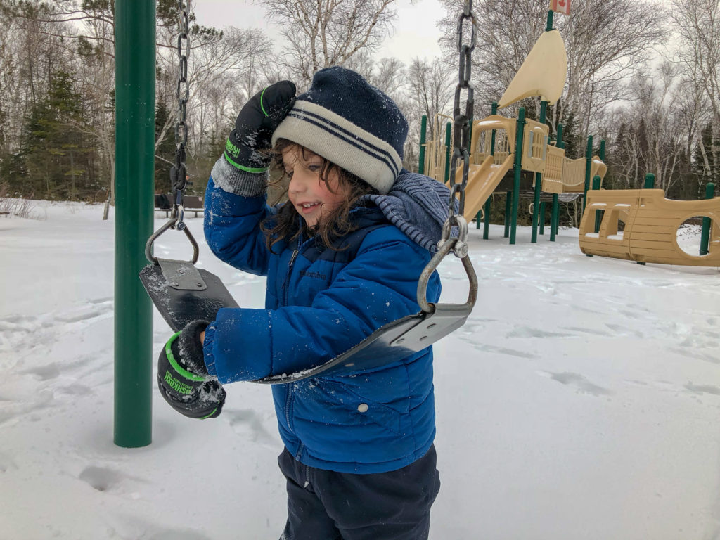 Little Man at the playground while winter camping at MacGregor Point Provincial Park in February #findyourselfhere #macgregorpointprovincialpark #macgregorpoint #macgregorpp #ontarioparks #yurtcamping #wintercamping #outdoors #adventureparenting #portelgin #brucepeninsula PHOTO BY BRIAN TAO, LUXOGRAPHY 2019