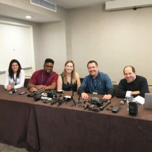 Video production panel at Dad 2.0 on San Diego, California with La Guardia Cross, Jason Kravitz, Meredith Masony