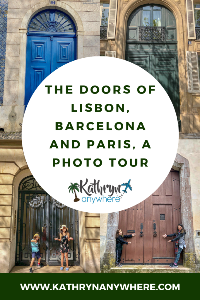 Come along and check out the doors of Lisbon, Barcelona, Marseille and Paris on this photo tour I did with my kids. I was completely in awe of these in Western Europe. so much history!