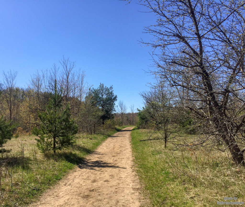 One of the hiking trails at Mono Cliffs Provincial Park