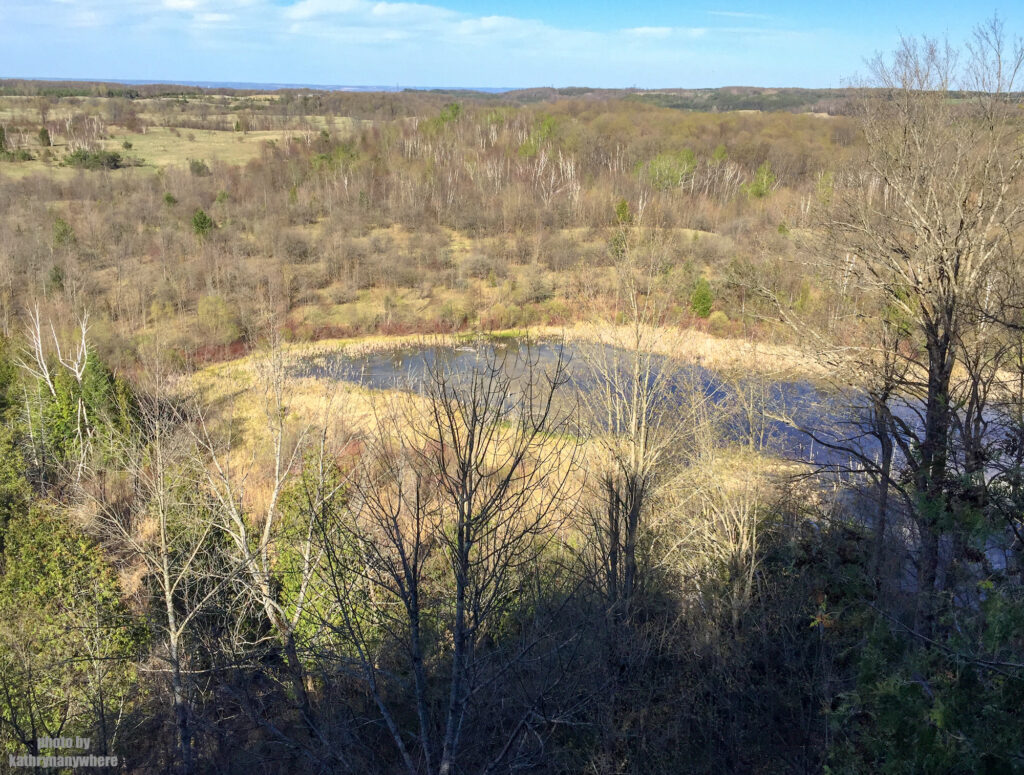 From top of the look out at Mono Cliffs Provincial PArk