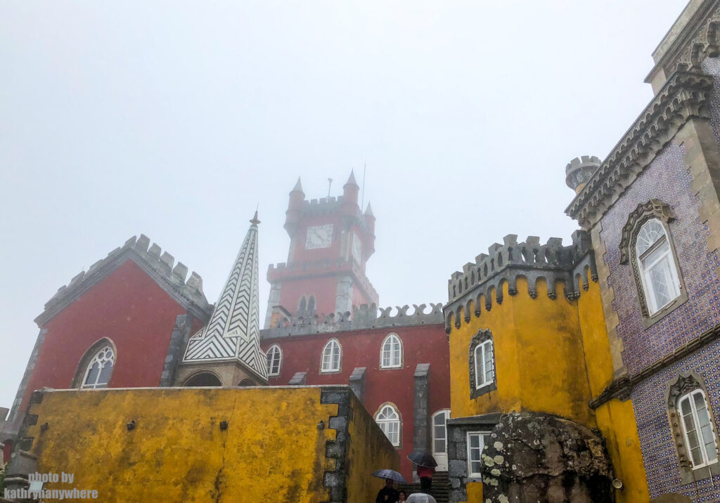 Pena National Palace in the clouds