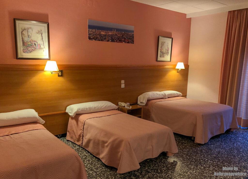 triple room at cuatro nanciones, barcelona, spain