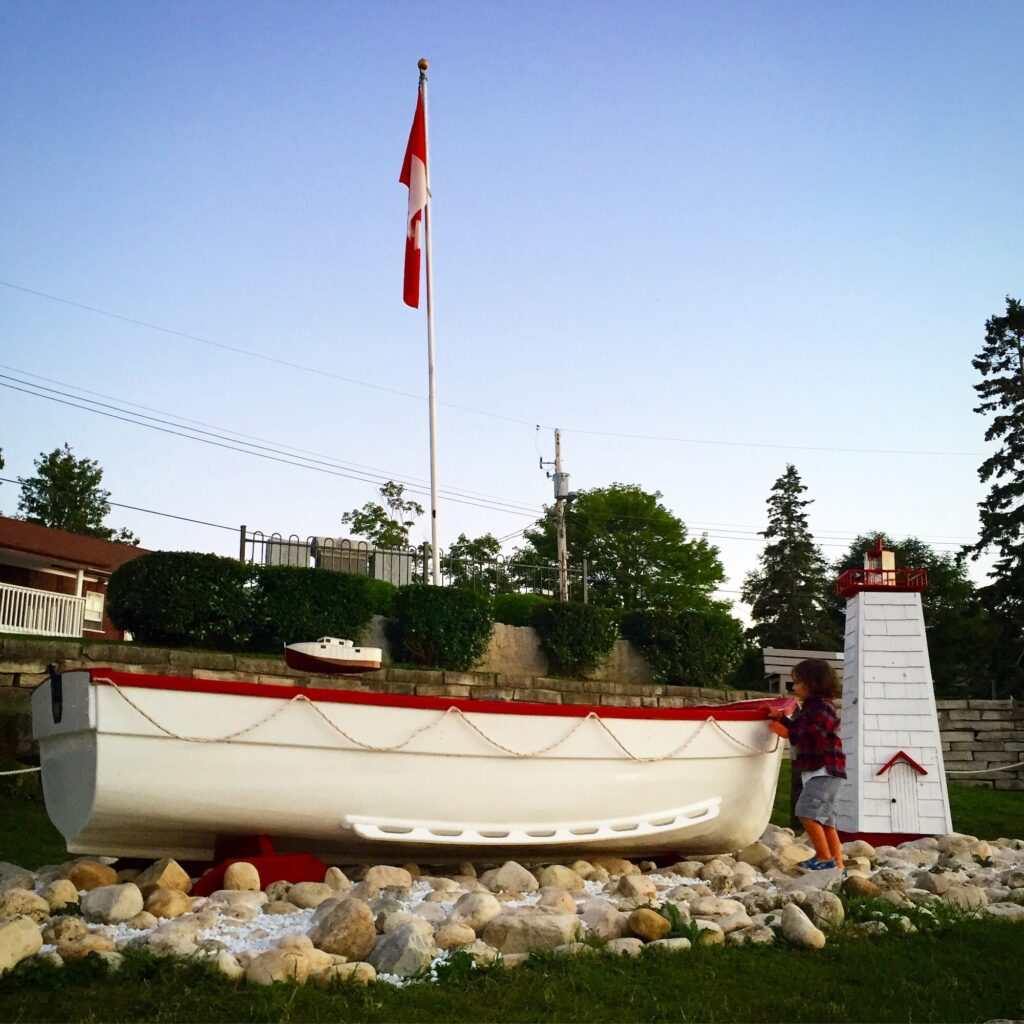 mariner's monument on Bay Street in Tobermory, Ontario