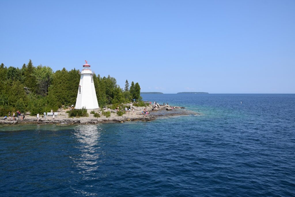 Tobermory, Ontario Lighthouse at Big Tub Harbour