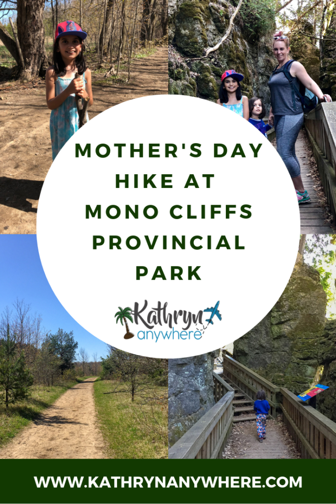 Looking for a great places to head out for a mother's day hike? Mono Cliffs Provincial Park in Ontario is the place to go! #ontarioparks #provincialparks #findyourselfhere #monocliffs #orangeville #brucetrail