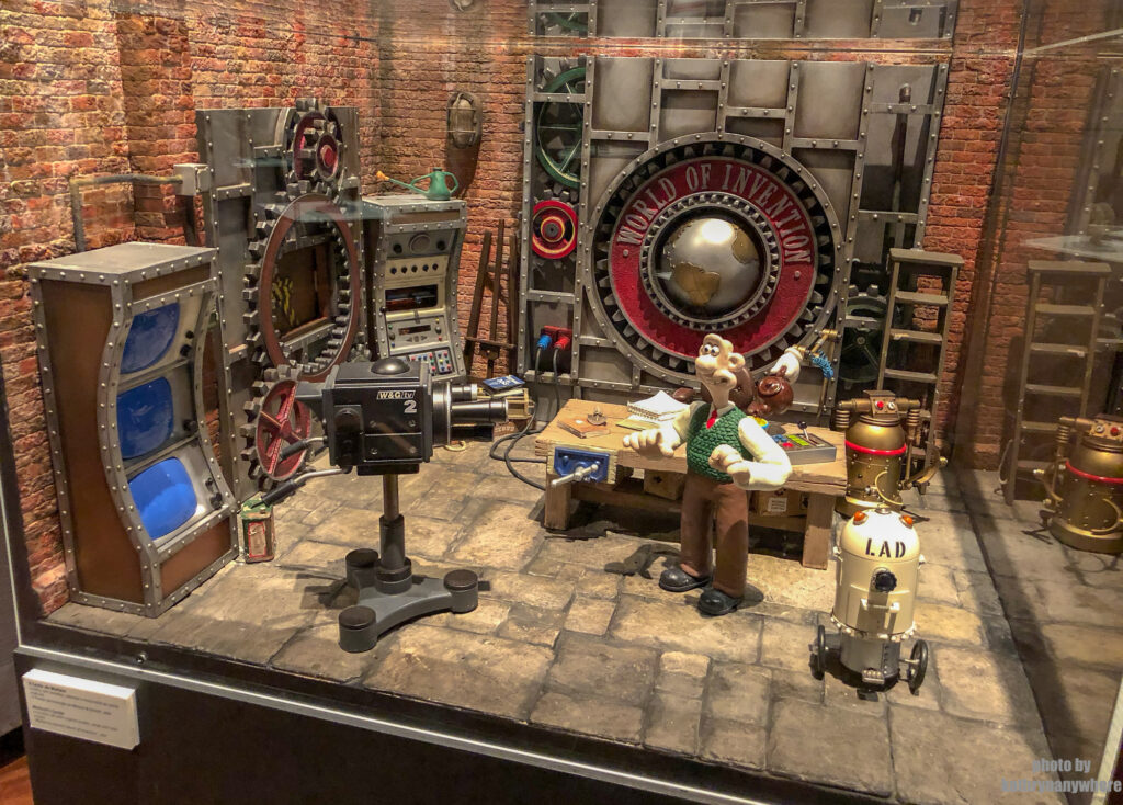 Wallace and Gromit set from Aardman Studios in Lisbon