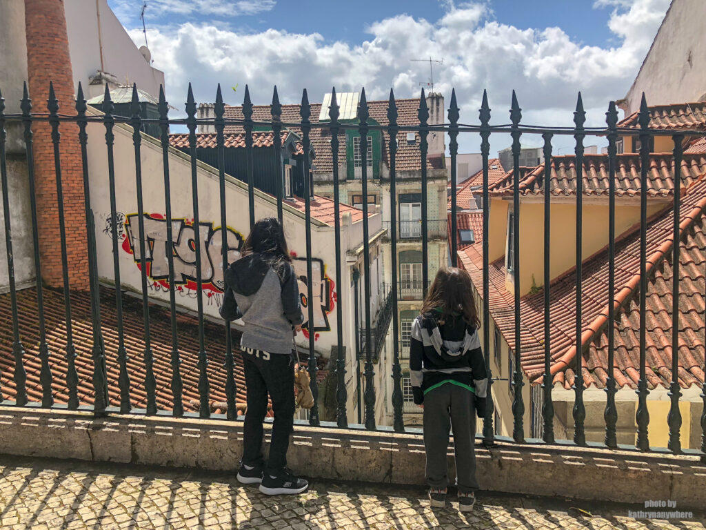 We walked through the streets of Alfama up the hill to Castelo Sao Jorge in Lisbon
