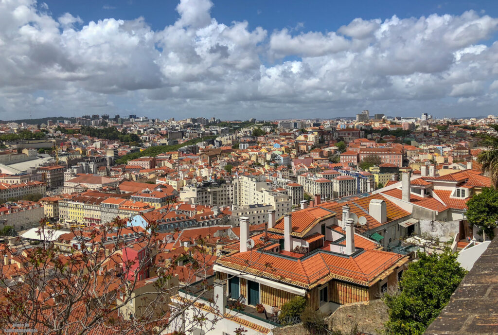 What a view of Lisbon from the Castelo Sao Jorge