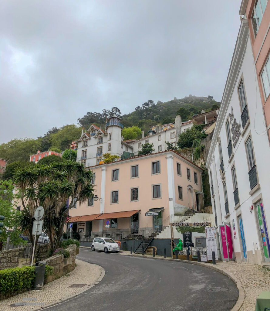 middle of the town in picturesque Sintra, Portugal