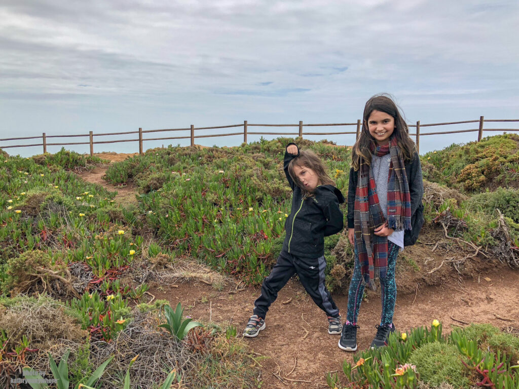 My kids at Cabo da Roca