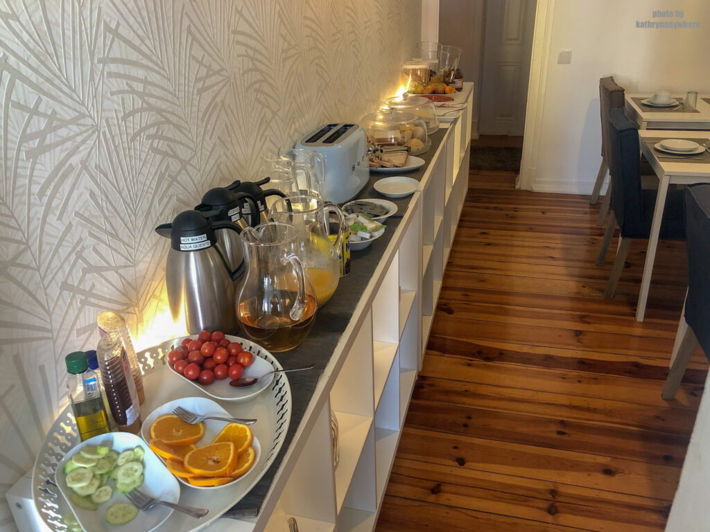 breakfast at City Lofts Guesthouse in Lisbon