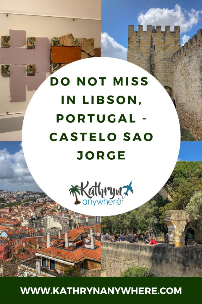 Do not miss seeing Lisbon Castle, Castelo Sao Jorge - The castle in the capital on the hill in Portugal #travelportugal #portugaltravel #lisbonportugaltravel #lisbondaytrips #lisboncastle #lisbonthingstodoin #lisbonthingstosee #thingstodoinlisbonportugal #familytravel #bestcastlesineurope #bestcastlesinportugal #thingstodoinportugal #travellisbon #lisbontravel #lisbonwithkids #castelosaojorge