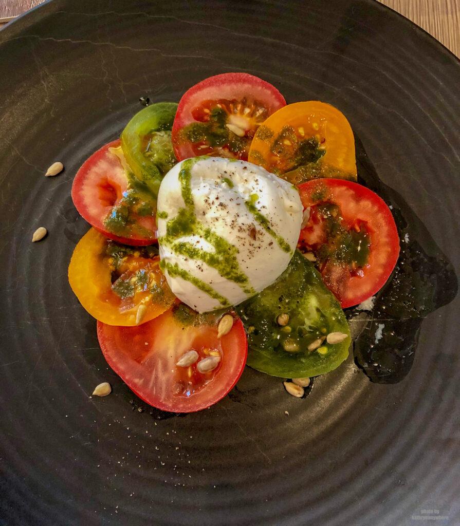 Tomato salad gourmet dining experience