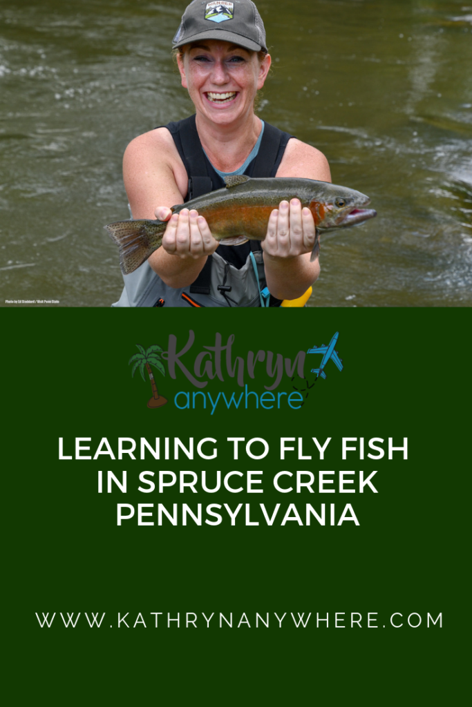 LEARNING HOW TO FLY FISH IN SPRUCE CREEK, PENNSYLVANIA. #RaystownLakeRegion #HomeWaters #flyfishinggirls #flyfishingwomen #womenanglers #rivertrout #catchandrelease #rainbowtroutfishing #rainbowtroutflyfishing #sprucecreekSome photos by Ed Stoddard / Visit Penn State / State College / Communications Director Central PA Convention & Visitors Bureau www.visitpennstate.org