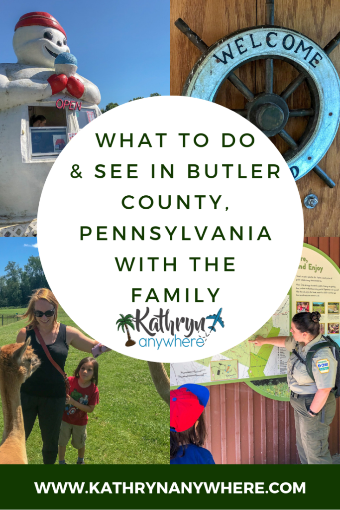 What to see and do with the family in Butler County PA. Family road trip to Slippery Rock, Cranberry Township, Portersville, Pennsylvania. Moraine State Park, Jennings Educational Center, WestPark Alpacas #familyroadtrip #familytravelblogger #takefamilytime #familyvacationsmatter