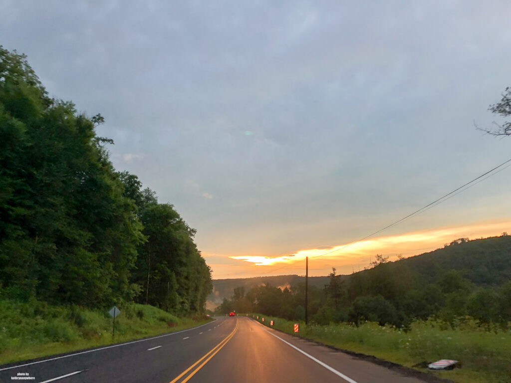 driving home to Toronto, away from Raystown Lake Region