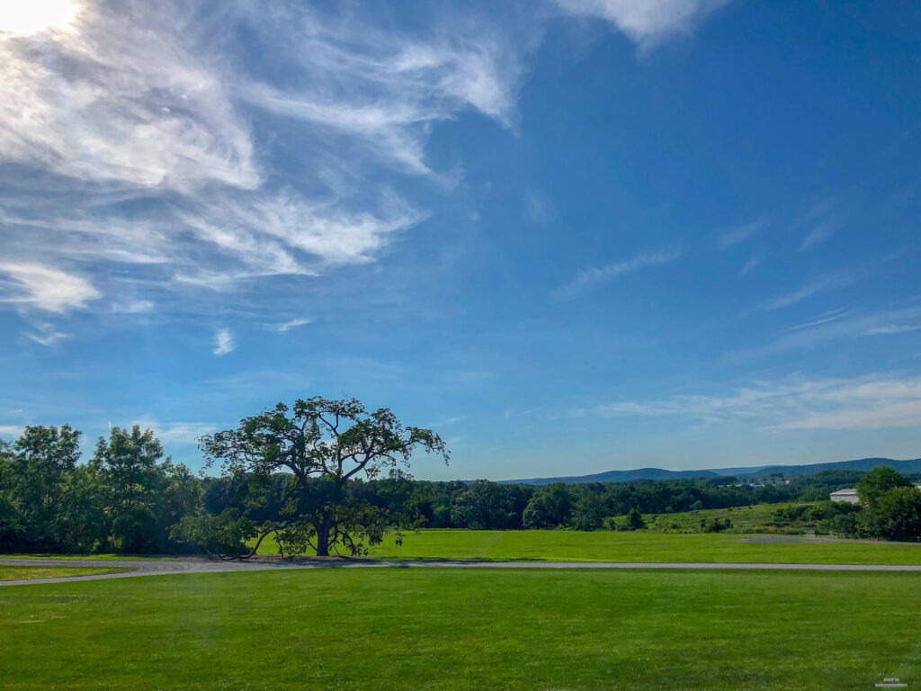 Beautiful blue skies in Pennsylvania. Taken on the grounds of Penn State.