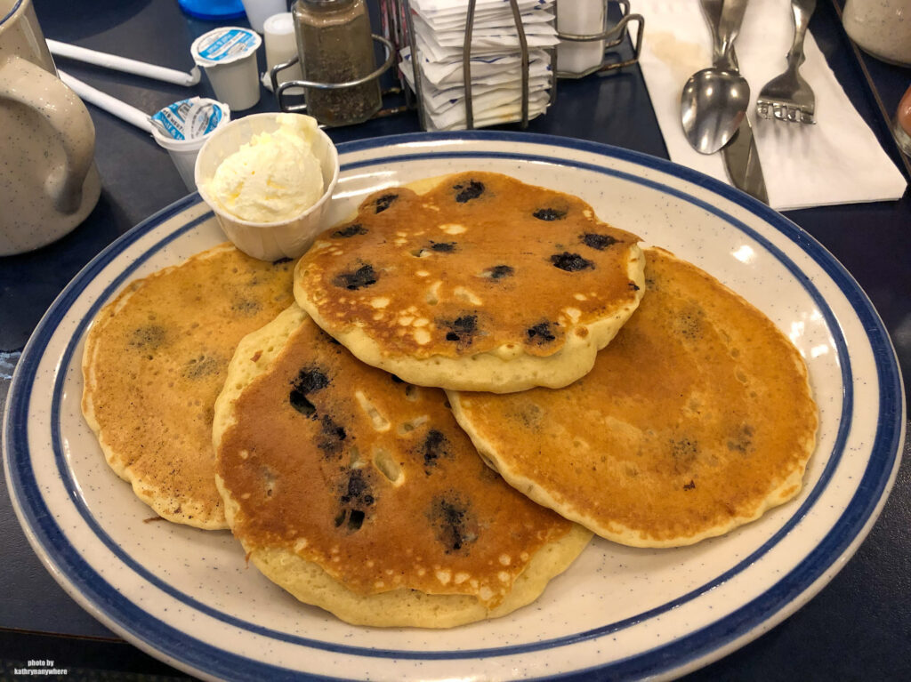 chocolate chip pancakes at The Corner Room - old restaurant in State College, PA