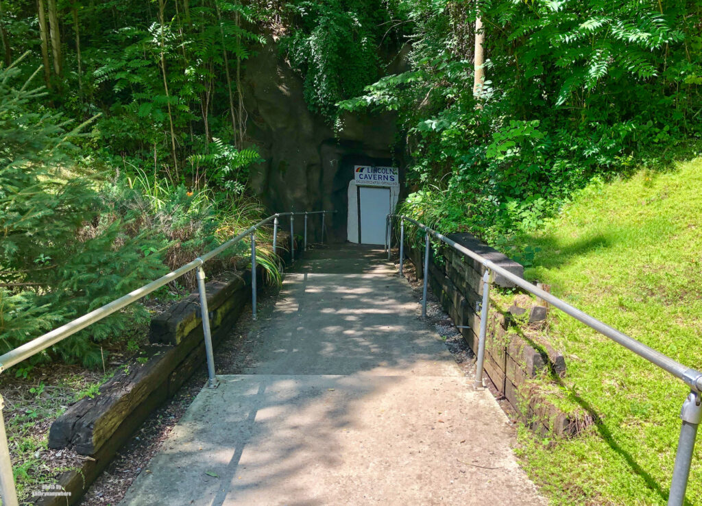 The entrance stairs to Lincoln Caverns, just outside State College, PA