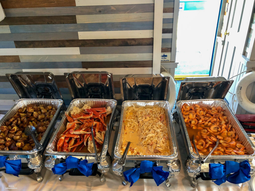 Seafood feast on the ProudMary Showboat at Lake Raystown Resort